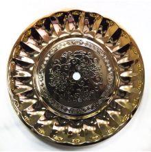 Kohleteller Tradi ungelocht - Gold