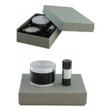 Grinder 4-tlg. & Pollenpresse Set (chrom / schwarz)