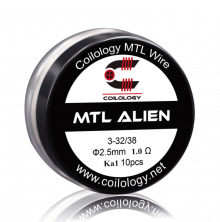 COILOLOGY Vorgewickelte Coil - MTL Alien, Ka1 1.0ohm
