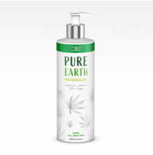 PURE EARTH, CBD Massage Oil 200ml (250mg CBD)