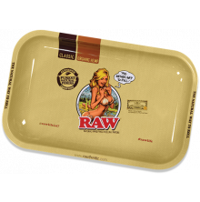 RAW Girl Metal Rolling Tray - Small